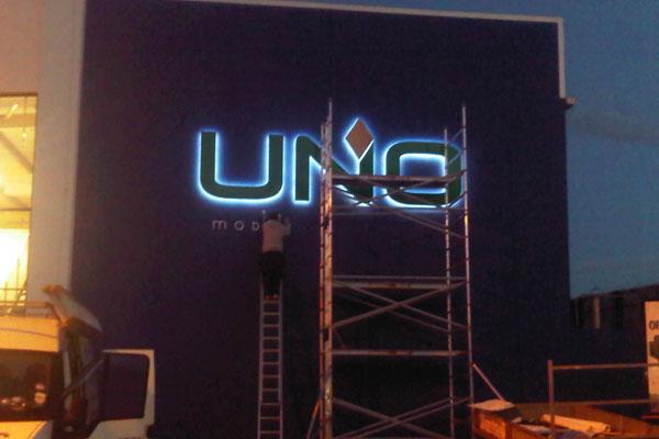 illuminated neon tower signs ballymena